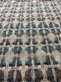 Detail of hand woven fabric design.