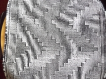 Detail of Shadow Weave design in British Wool for Bradford Textile Society Design Competition 2015.