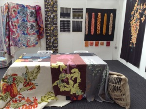 Bath Spa University BA Textile Design course stand