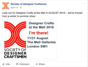 Designer Crafts at the Mall 2016