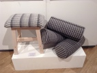 Upholstery and Soft Furnishing fabric in Wool for Society of Designer Craftsmen show in Mall Galleries 2016.