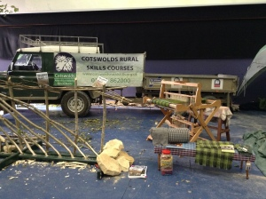 Rural Skills demonstration at Cheltenham Racecourse Cotswolds Showcase