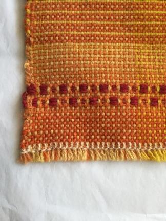 Yoga meditation rug, British Wool and natural dyes